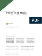 Better Font Stacks
