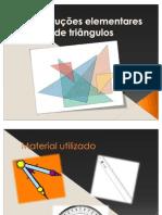 Construções elementares de triângulos