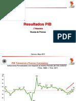 Crecimiento económico de Venezuela. 1er trimestre 2011