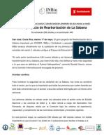 Comunicado - Inicia proyecto de Rearborización de La Sabana