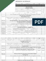 Weekday Schedule 2010-2011