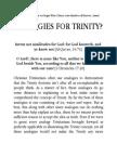Analogies for Trinity?