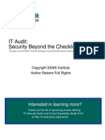 Auditing Cisco Pix Firewall 31