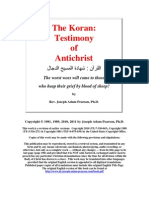 The Koran - Testimony of Antichrist by Dr. Joseph Adam Pearson