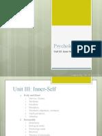 Psychology I - Unit III