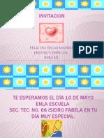 INVITACION DEL DÍA DELAS MADRES.