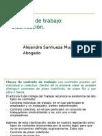 DERCHO LABORAL APUNTE N%BA 4 Contrato de Trabajo Clasificacion