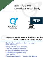 Edison Research American Youth Study Radios Future