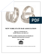 NYS Bar Association 2009 Marriage Equality Recommendation