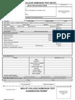MCAT Application Form