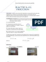 PRACTICA DE FRICCION