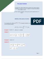 Laplace Notes