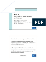 Aula 01 - Introdução à Administração de Materiais - SI