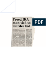 David Trimble, the former first minster wanted the IRA bomber, chief suspects in Martin McGartland attempted murder returned to jail ...