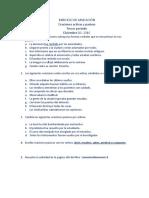 EJERCICIO DE APLICACIÓN y talleres tercer periodo