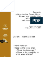 A Sustainable Cocoa Chain