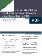 Determinación de atenolol en productos  farmacéuticos por espectrometría