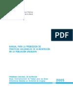 MANUAL PARA LA PROMOCION DE PRACTICAS SALUDABLES DE ALIMENTACIÓN EN LA POBLACIÓN URUGUAYA