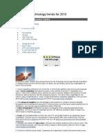 10 Strategic Technology Trends for 2010