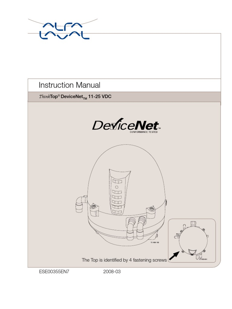 Instruction Manual Thinktop Device Net En Network Topology Devicenet Wiring Diagram Computer