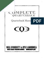 West Coast Academy QB Manual