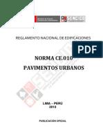 Norma Ce.010 Pavimentos Urbanos
