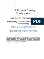 SAP Product Costing Notes