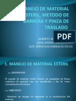 Manejo de Material Esteril, Metodo de Barrera