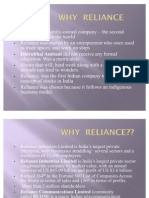 Why Reliance