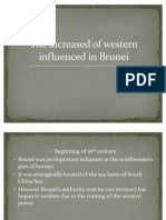 The Increased of Western Influenced in Brunei
