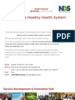 Creating a Healthy Health System