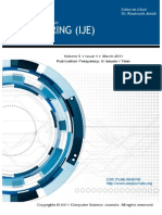 International Journal of Engineering (IJE) Volume (5) Issue (1)