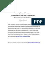Advancing Democ Governance