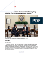 Remarks by President Obama and His Majesty King Abdullah II of Jordan After Bilateral Meeting