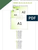 Format de Papier A0, A1,A2,..