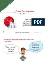 Test Driven Development in C++