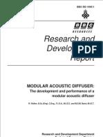 1995 Design Modular Acoustic Diffuser