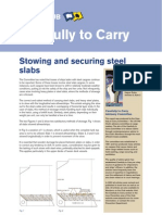 Stowing and Securing Steel Slabs