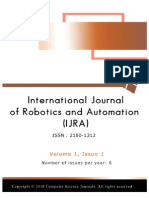 International Journal of Robotics and Automation (IJRA) Volume 1 Issue 1