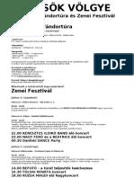 A koncertek részletes programja