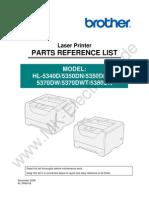 HL-5380 Parts List