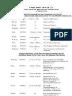 B.tech Timetable