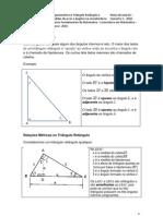 a No Triangulo Retangulo e Medidas de Arcos e Angulos Na Circunferencia