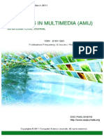 Advances in Multimedia - An International Journal (AMIJ) Volume 2  Issue 1