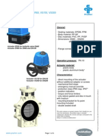 4_PVDF Butterfly Valve K4 With Electric Actuator
