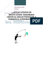 Applied Motivation Theories