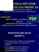 INDEMNIZACION POR NEGLIGENCIAS MEDICAS