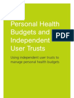 Health budgets and user trusts