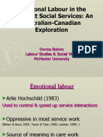 Donna Baines Emotional Labor