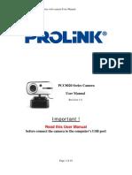 PCC8020 Series Camera Manual